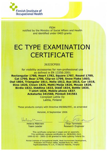 EC Certificate 1 Scanglo
